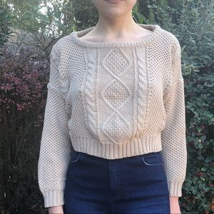 Tops - Cropped cable-knit sweater
